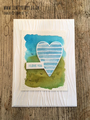 Use an Aqua Painter and a Classic Stampin' Pad with the Heart Happiness stamp set by Stampin' Up! to create a beautiful heart themed card.