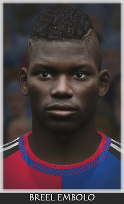 PES 2016 Breel Embolo (Shalke 04) Face by Bono Facemaker