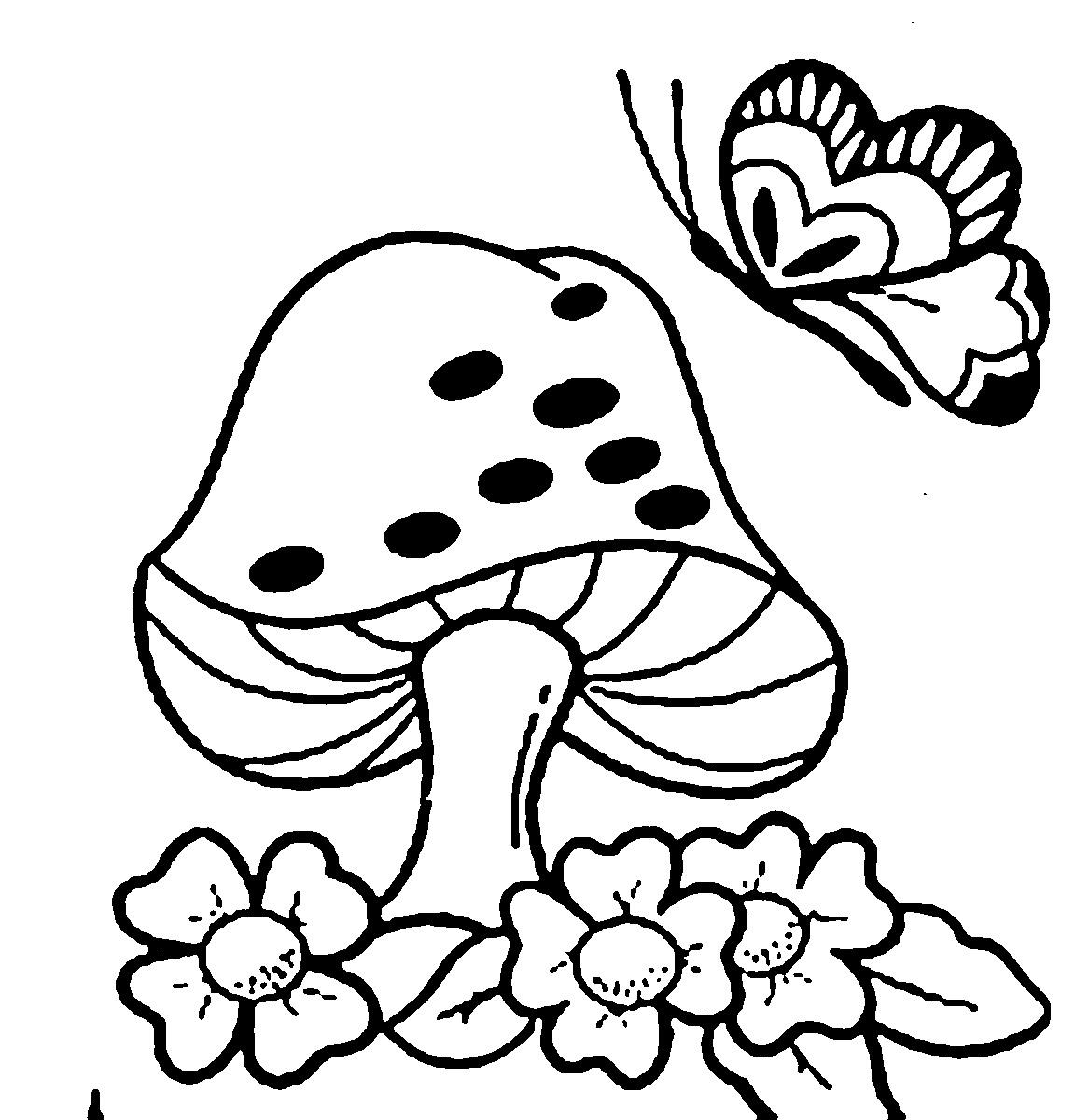 50 Desenhos Moldes E Riscos De Cogumelo Para Colorir
