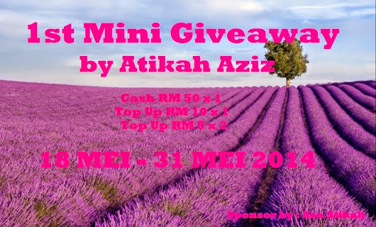 1st Mini Giveaway By Atikah Aziz