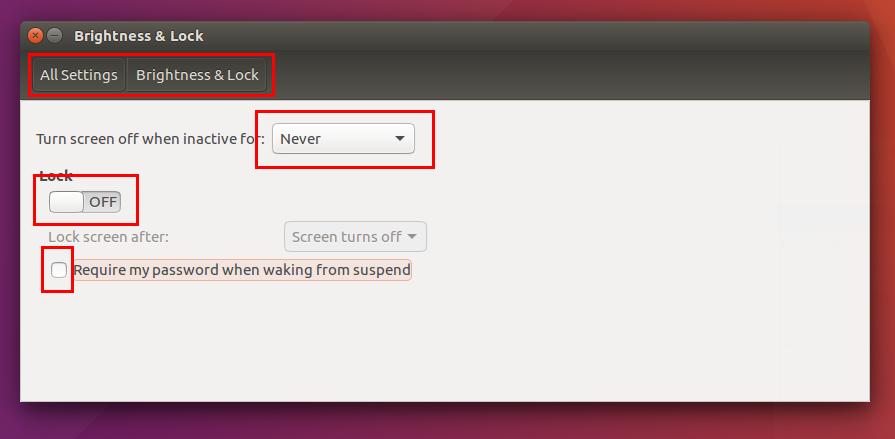 How To Disable Suspend & Lock in Ubuntu & Kubuntu