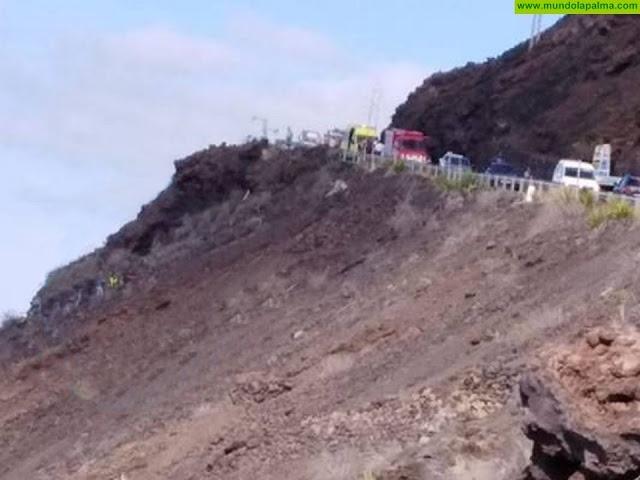 Fallece un motorista en la carretera de Puerto Naos