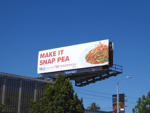 DoorDash snap pea billboard