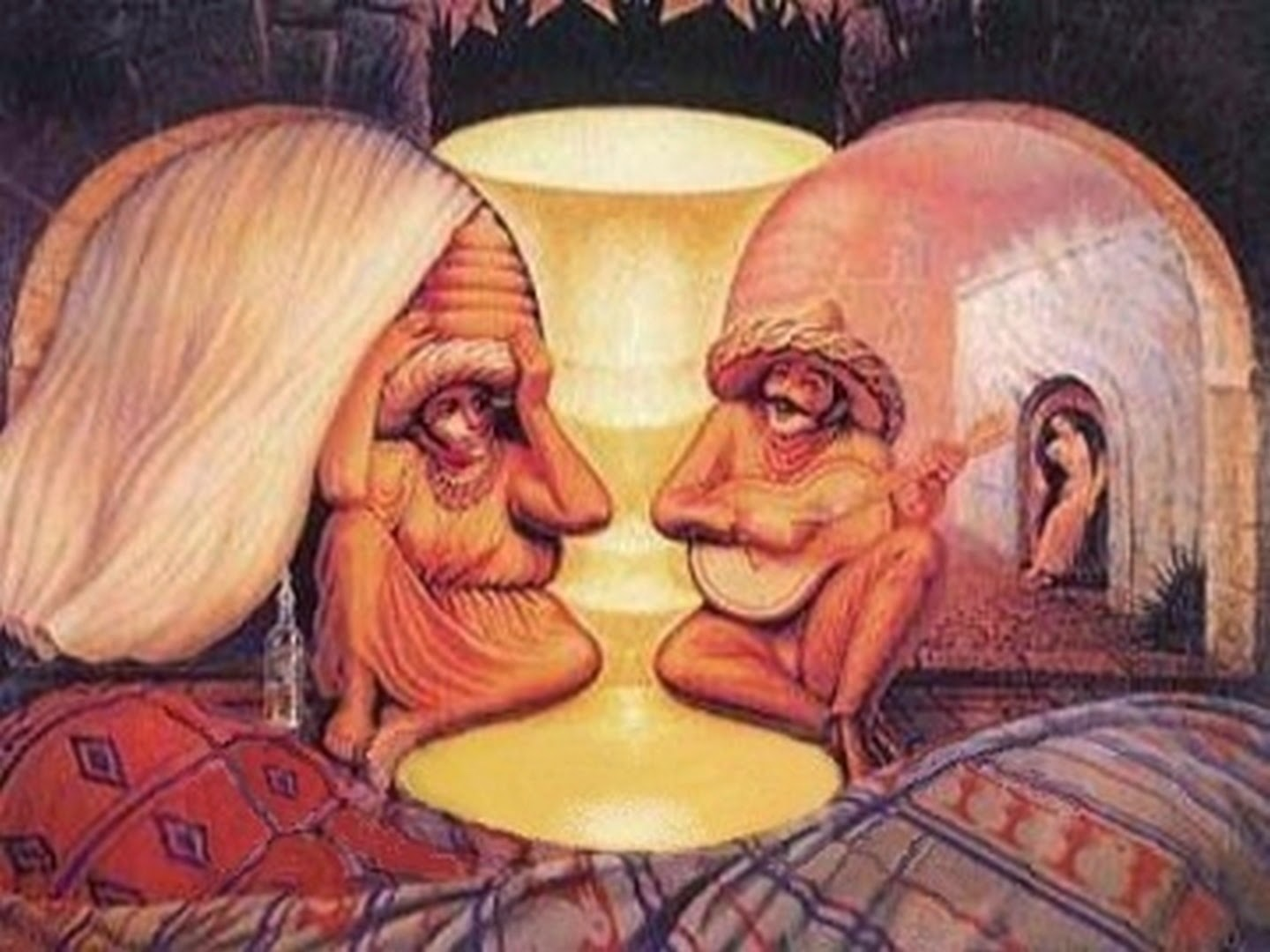 Old couple or musician dali