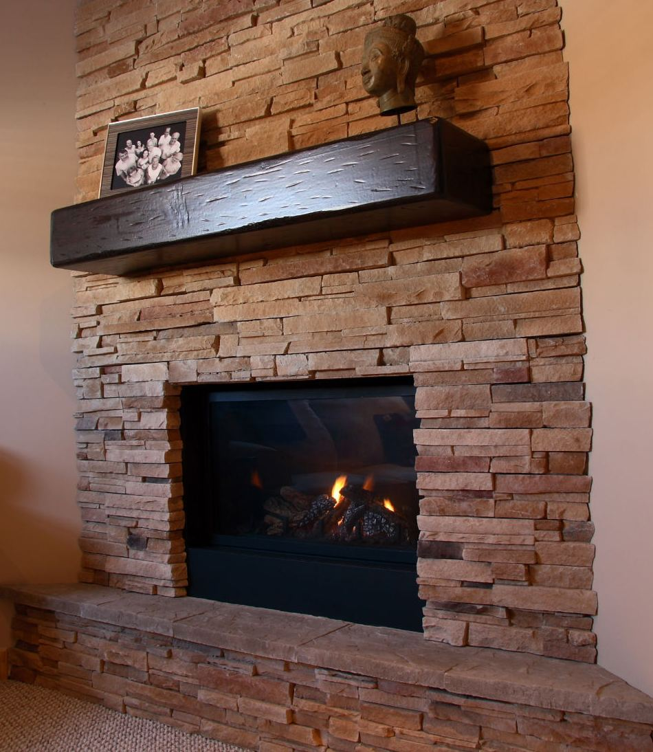 Barn Beams: Fireplace Mantels