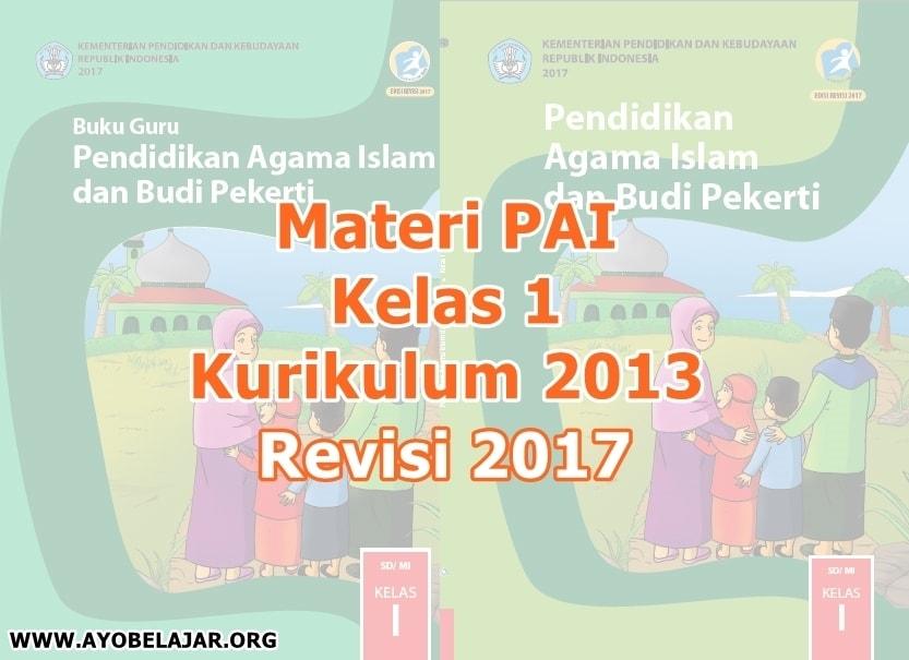 Materi PAI Kelas 1 Kurikulum 2013 Revisi 2017