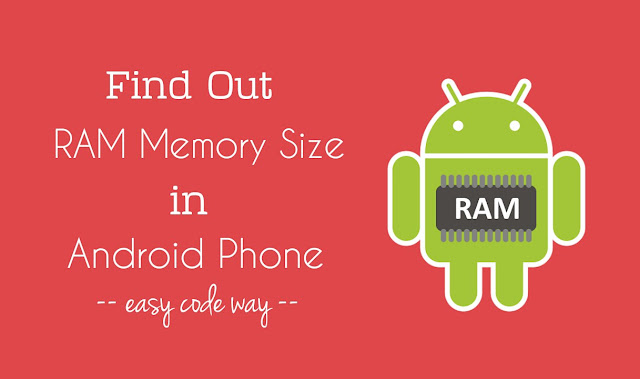 Find Android RAM memory size