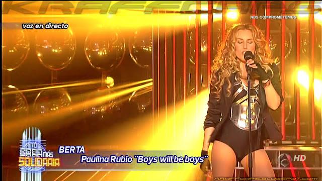 Berta Collado imita a Paulina Rubio