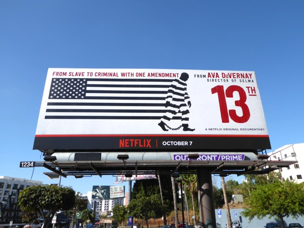 13th Netflix documentary billboard