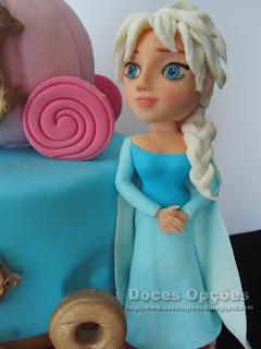 bolo elsa frozen bragança
