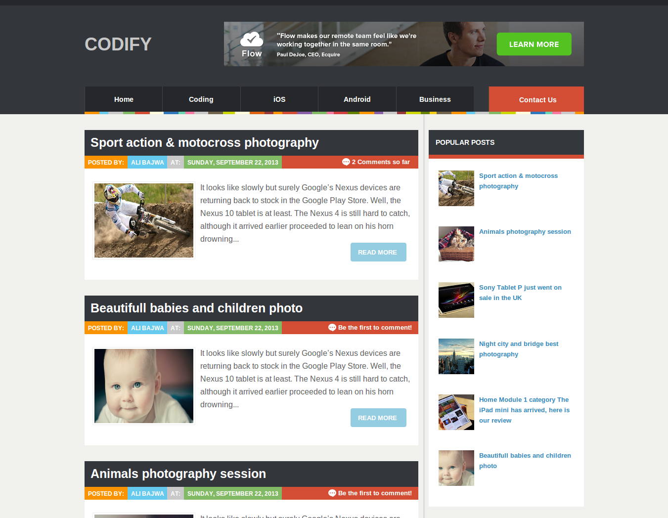 Codify Blogger Template | Blogger Templates Gallery