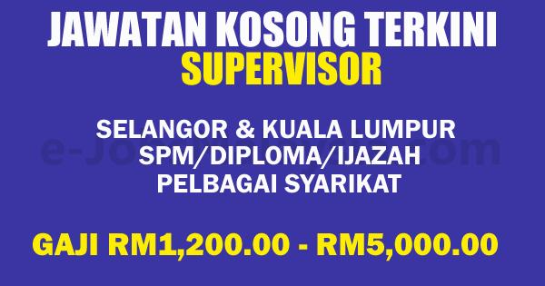 Jawatan Kosong Terbuka di Negeri Selangor dan Kuala Lumpur