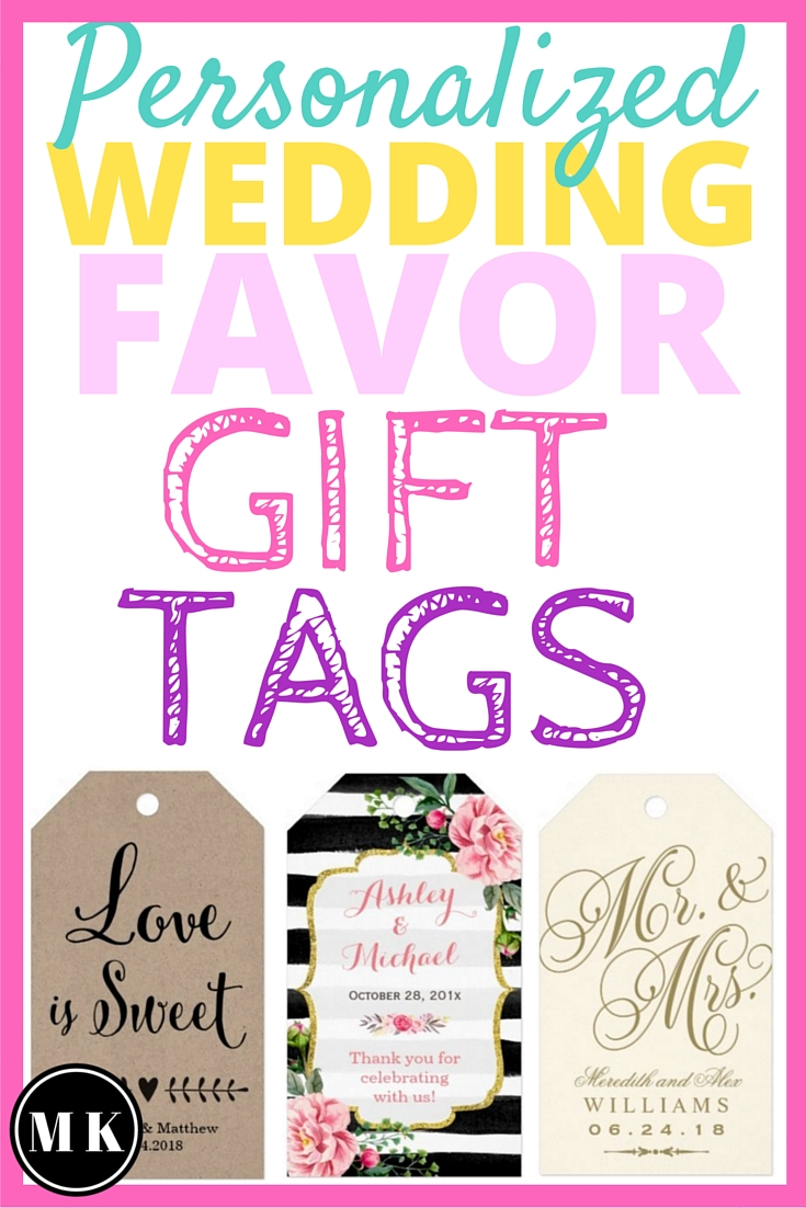 Personalized Wedding Favor Gift Tags - These custom tags for your wedding guest thank you gifts are a great way to add a personal touch to your wedding day. I love that there are quite a few designs with different sayings to pick from and they all come with twine ties. Whether your favors are candles, DIY seed packets or key bottle openers these tags will look awesome!