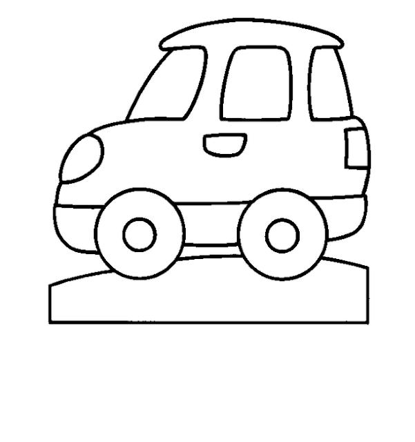 coloriage voiture pour tout petit