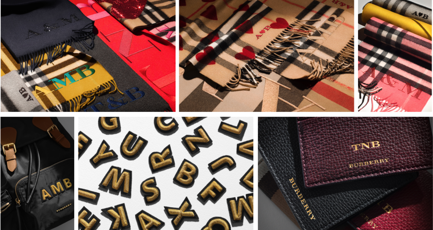Burberry Expands Monogramming Service