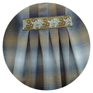 Plaid smock: Stylish Dress Book 1, E