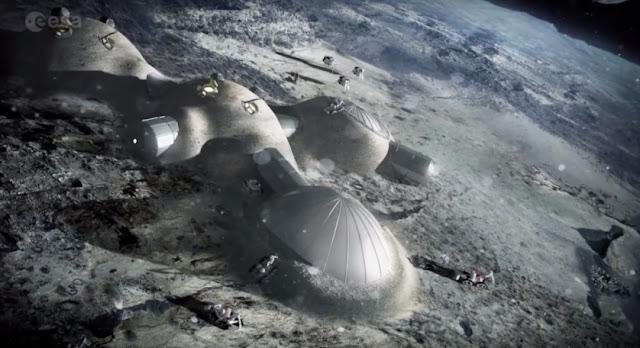 Com vida na Terra ameaçada agência espacial planeja vilarejo lunar