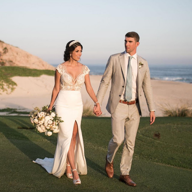 Olympian Michael Phelps Shares Wedding Photos After Secret Marriage To Nicole.
