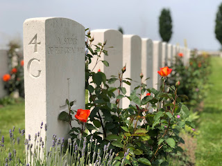 Graves at Tyne Cot Cemetery, Belgium