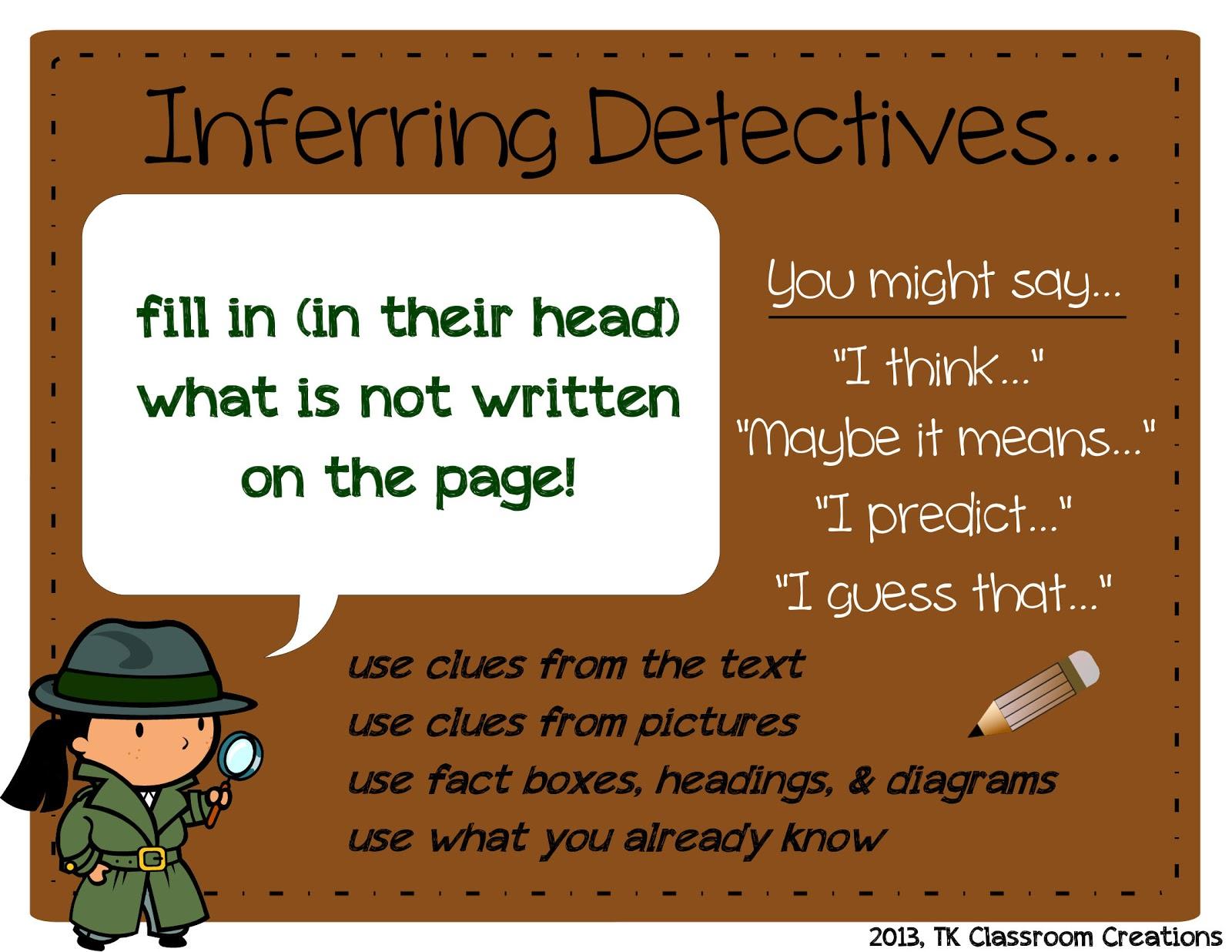 Tk Classroom Creations Inferring Detectives