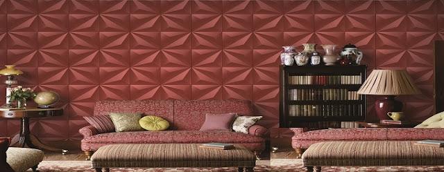 Trang trí nhà đẹp bằng giấy dán tường 3D điểm nhấn