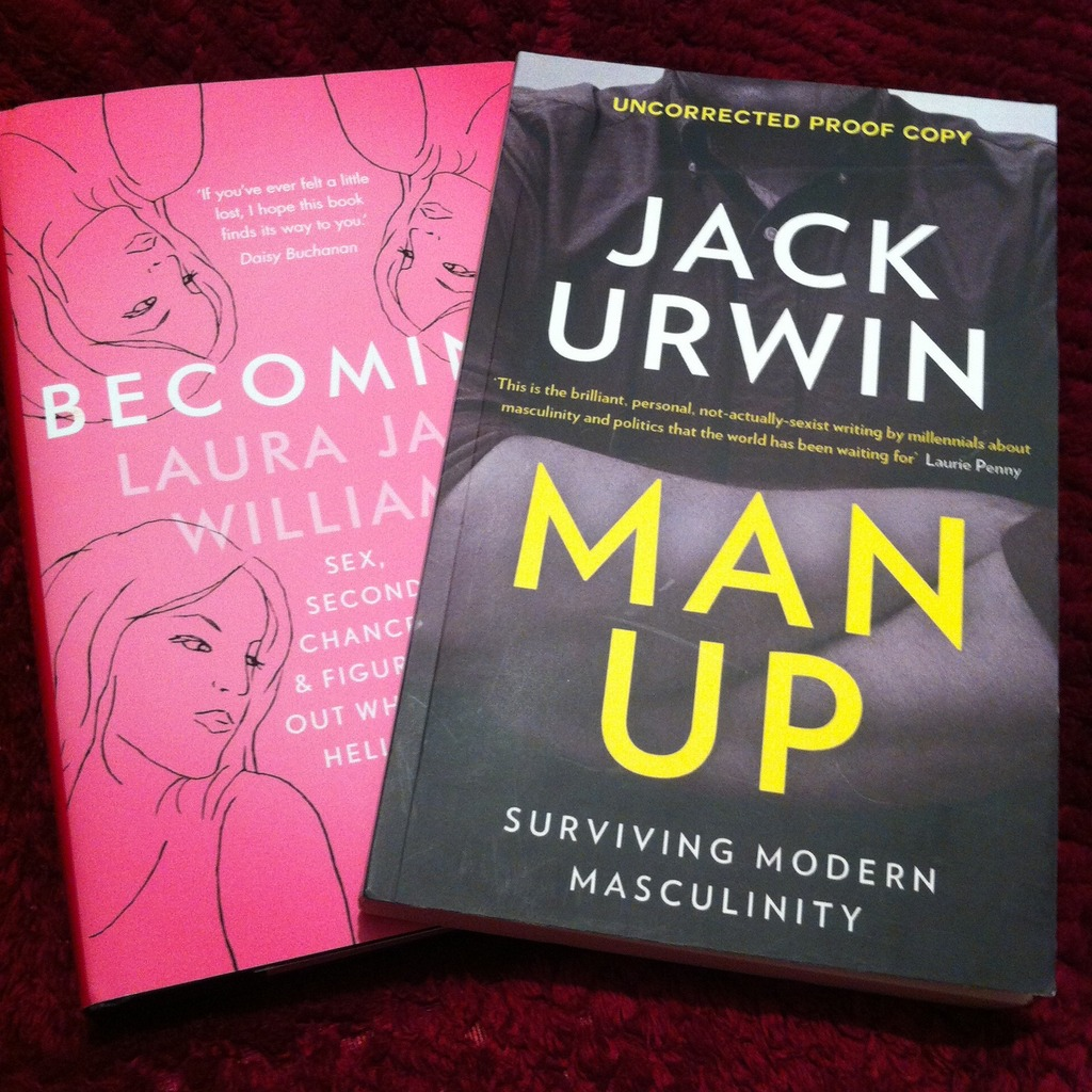 A photo of Becoming by Laura Jane Williams and Man Up: Surviving Modern Masculinity by Jack Urwin