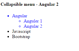 Make It Easy: Collapsible menu using Angular 2 | Nested menu using