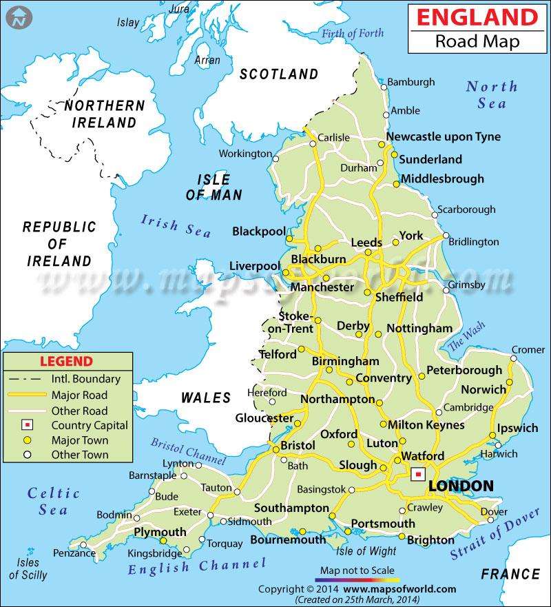 Inglaterra GEOGRAFIA TOPOGRAFIA y CARACTERISTICAS