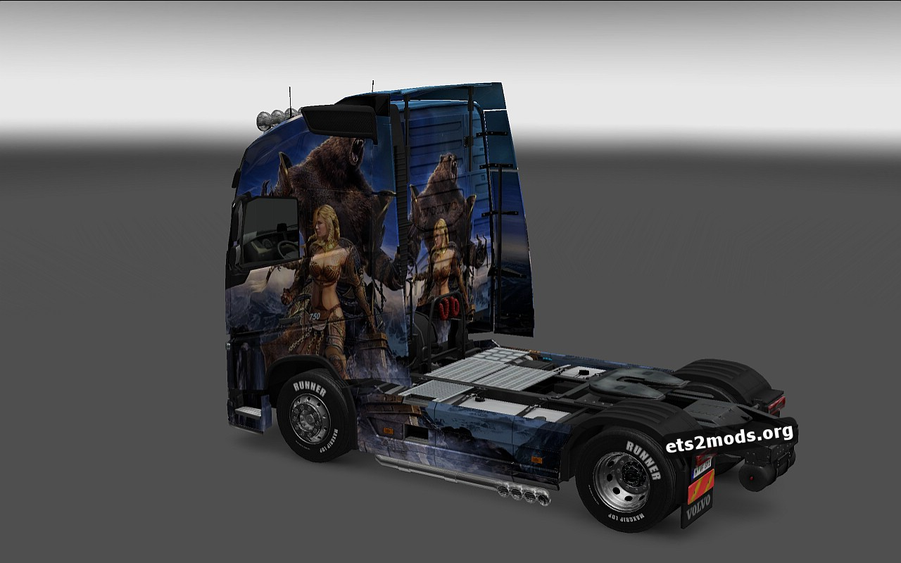 Bear and Girl Skin for Volvo 2012 & 2013