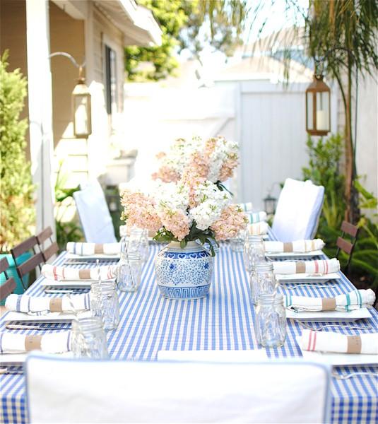 mesa de ano novo azul