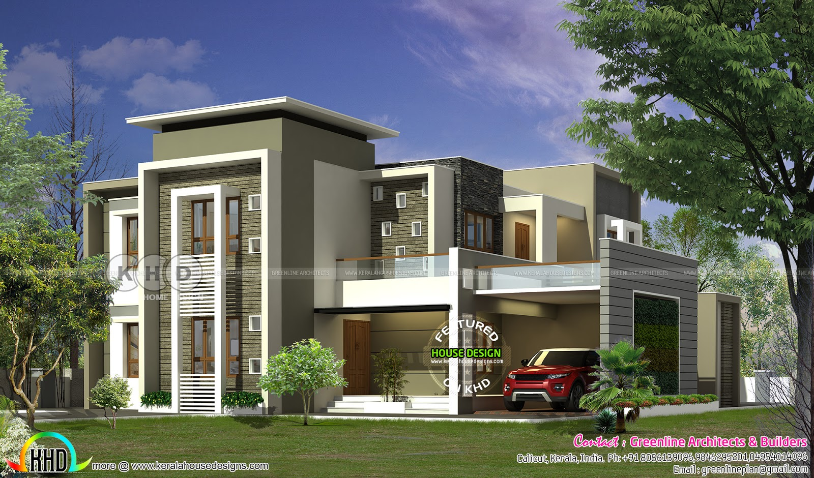 300 square meter contemporary house plan kerala home for 300 square meter house plan