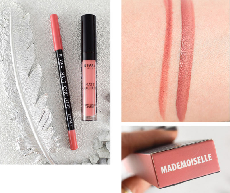 Rival de Loop Matt Couture Lip Kits Limited Edition, Madmoiselle, swatch