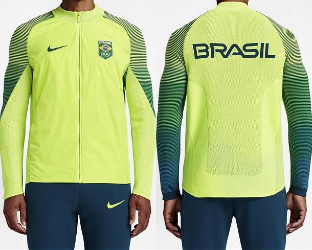 da49592441 Nike apresenta jaqueta de pódio do Time Brasil para o Rio 2016 - Show de  Camisas