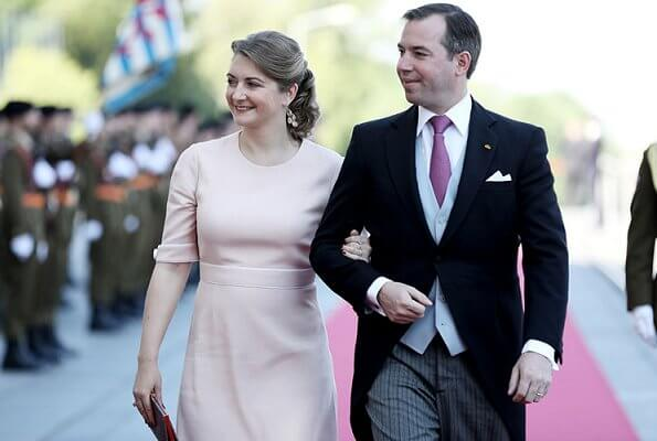 Grand Duchess Maria Teresa, Hereditary Grand Duke Guillaume, Hereditary Grand Duchess Stephanie, Prince Félix, Princess Alexandra