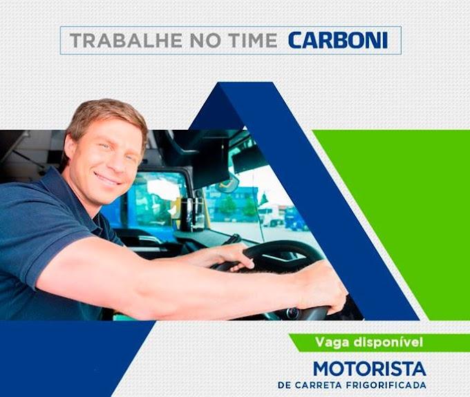 OPORTUNIDADE PARA MOTORISTA CARRETEIRO
