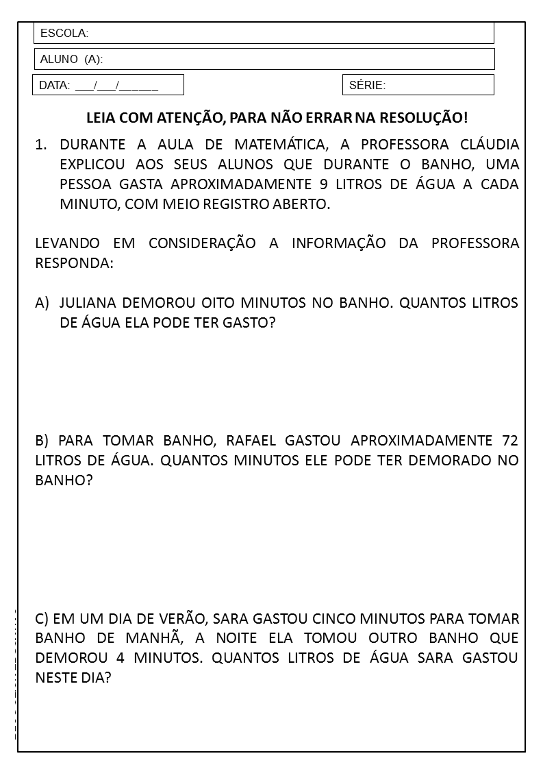 Muito PLANO DE AULA 3º ANO: SEQUÊNCIA DIDÁTICA DE MATEMÁTICA — SÓ ESCOLA TS29