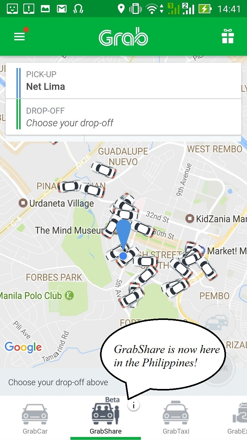 GrabShare in the Philippines