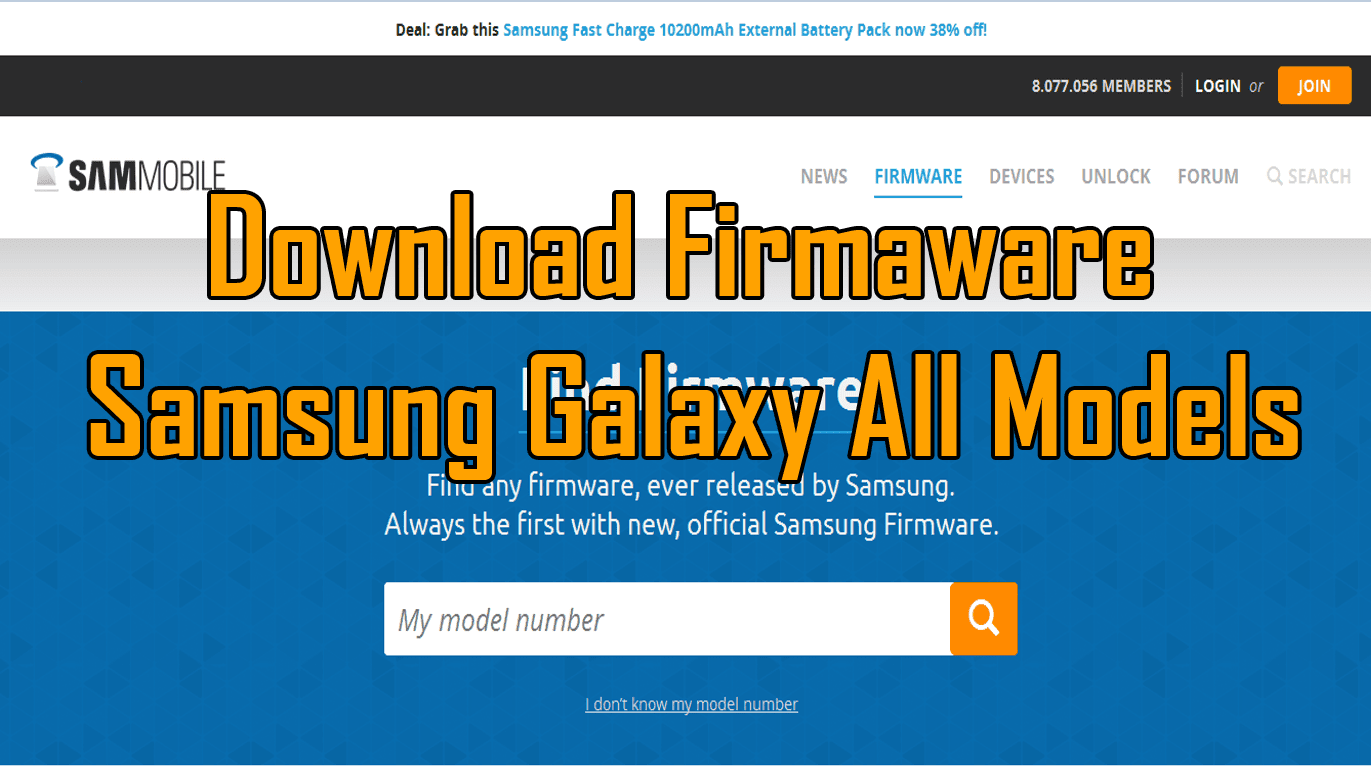 Download Firmware Samsung Galaxy All Models