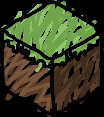 bloque dibujado de tierra minecraft