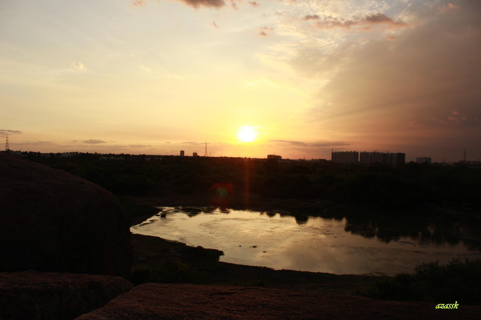 Calm-Sojourner: Buffalo lake, University of Hyderabad