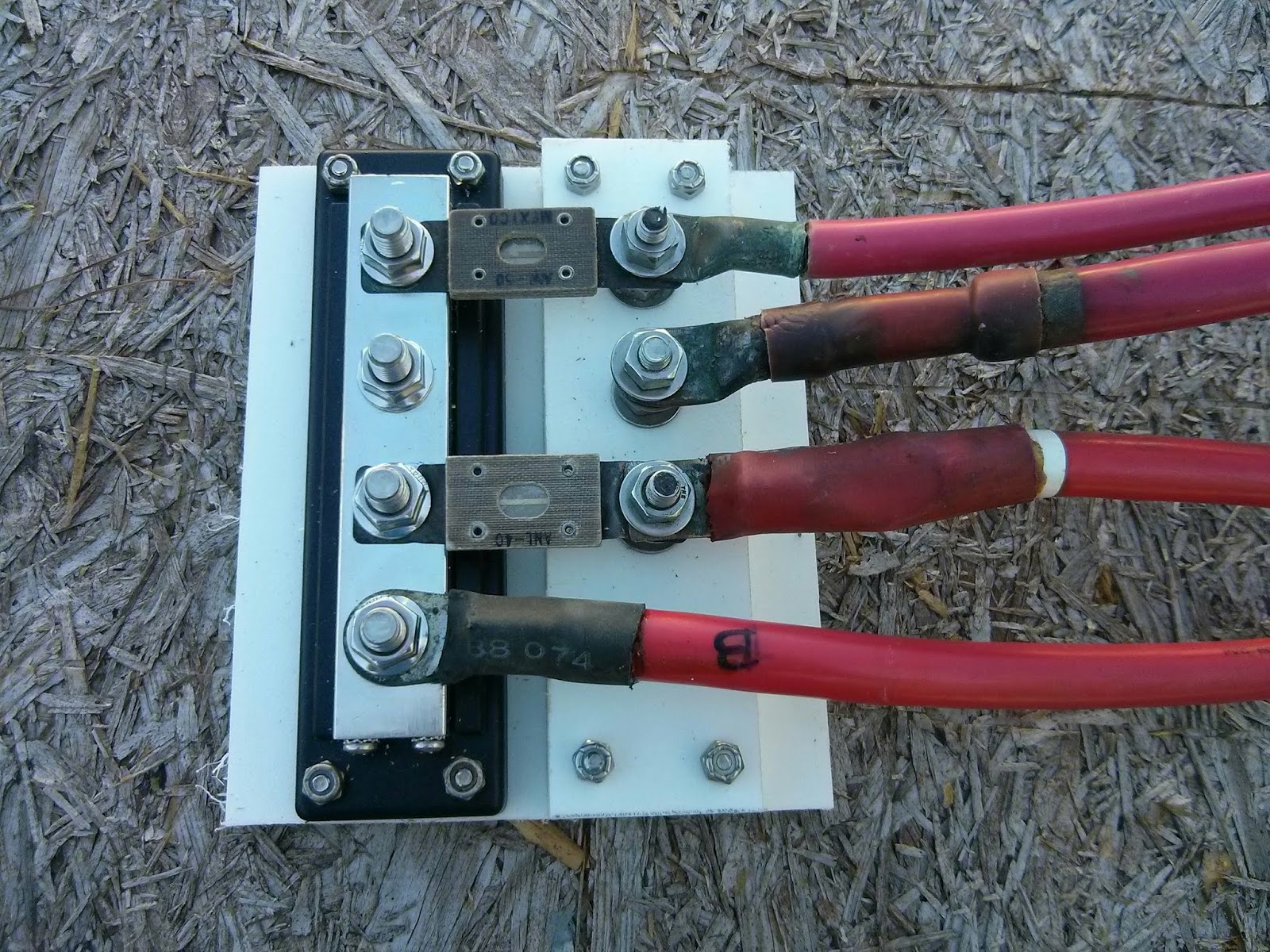 Mock up of wiring attached to fuse block (still missing one fuse.