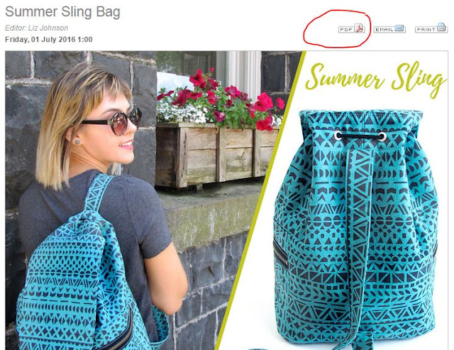 Sew4Home Summer Sling Bag