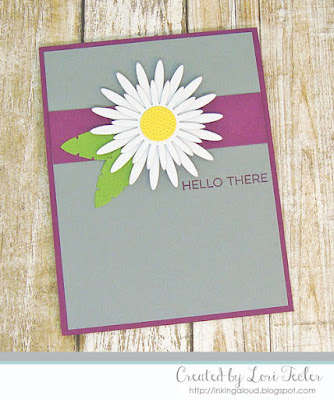 Hello There card--designed by Lori Tecler/Inking Aloud-stamps and dies from My Favorite Things