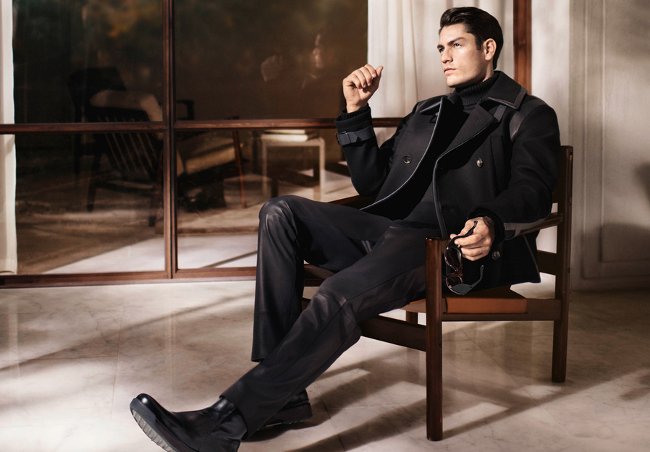 total look black salvatore ferragamo
