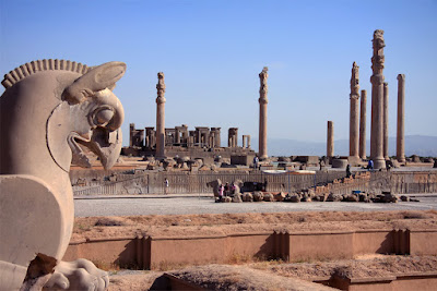 Columns and statues of Persepolis.