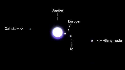 Jupiter with Moons (25 July 2017)