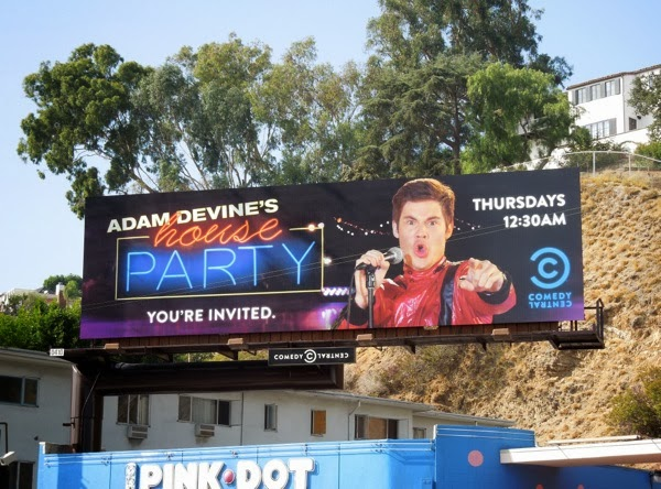 Adam Devines House Party series premiere billboard