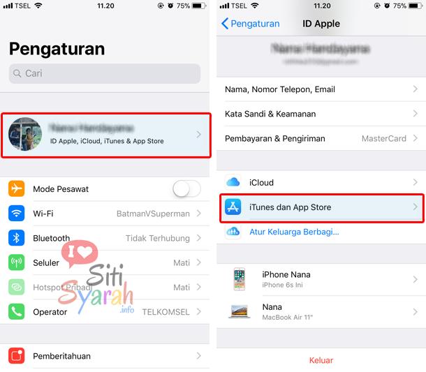 agar aplikasi iPhone tidak update otomatis
