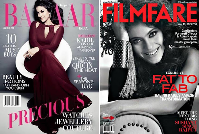 Kajol Devgan on Harper's Bazaar & Filmfare cover of June Issue
