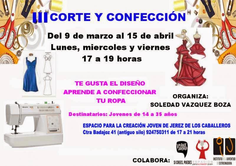 59916e26582e Trabajo en Extremadura   Curso de Corte y Confección en Jerez de los ...